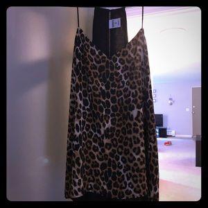 Express leopard print/black reversible top